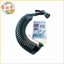 【向花緣】伸縮水管組 7.5公尺(25呎) - 含水槍,伸縮水管,水龍頭子母接頭